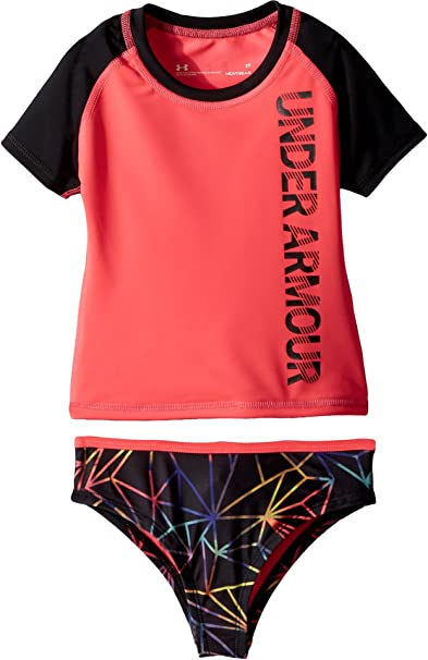 4a9acd335c2 Amazon.com: Under Armour Kids Baby Girl's Polyprism Rashguard Set (Toddler)  Penta Pink 2T Toddler: Clothing