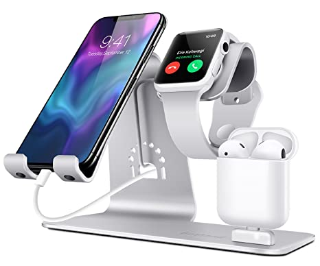 4d12f3abc14 Bestand 3 in 1 Stand iWatch Apple, Dock per caricabatterie Airpods,  Supporto tablet per