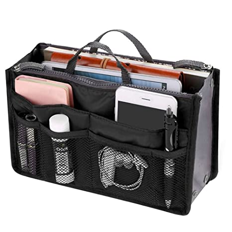 MeteorFlying Bolso organizador para cartera con varios bolsillos Maquillaje Bolso Cuadrado Cosmético Portátil de Viaje de