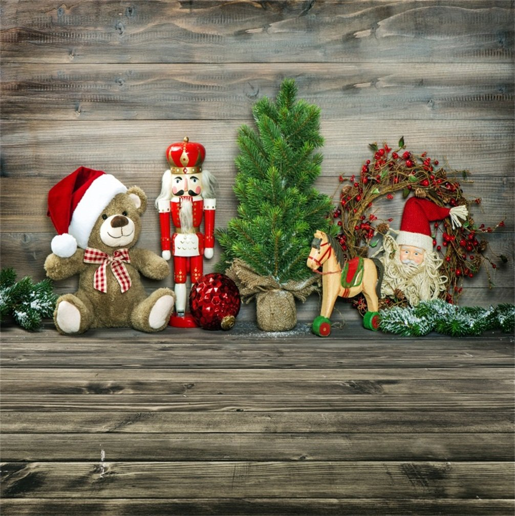 Country Christmas Background Wallpaper.Csfoto 8x8ft Background For Rustic Christmas Decoration