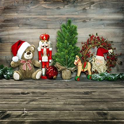 Country Christmas Background.Amazon Com Csfoto 4x4ft Background For Rustic Christmas
