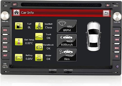 iFreGo Radio de coche de 7 pulgadas y 2 Din para Volkswagen Leon, para Volkswagen Seat y Skoda, radio Bluetooth, navegación DVD, CD, DAB+, Windows CE ...