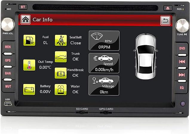 Ifrego 7 Zoll 2 Din Autoradio Für Vw Leon Für Volkswagen Seat Und Skoda Autoradio Bluetooth Radio Navigation Dvd Cd Dab Windows Ce 6 0 Navigation