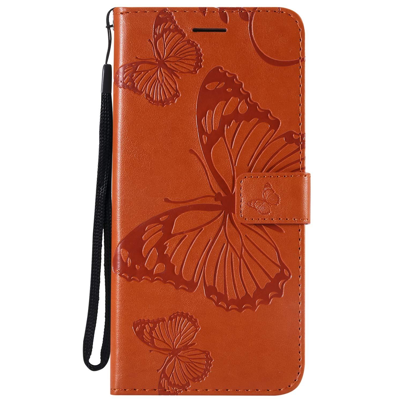 Lomogo Cover Samsung Galaxy J6+ (J6Plus), Custodia Portafoglio in Pelle Porta Carta di Credito con Chiusura Magnetica per Samsung Galaxy J6+ (J6 Plus) - LOKTU23931 Grigio