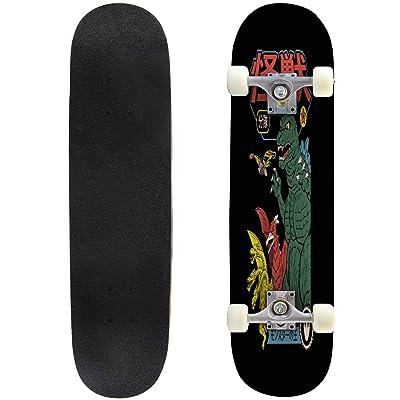 "Cuskip Wild Skateboard Complete Longboard 8 Layers Maple Decks Double Kick Concave Skate Board, Standard Tricks Skateboards Outdoors, 31""x8"" : Sports & Outdoors"