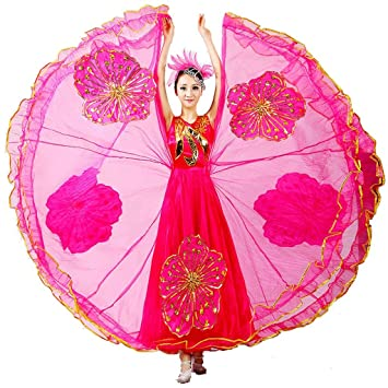 Byjia frauen opening dance flamenco lange kleider adult princess ...