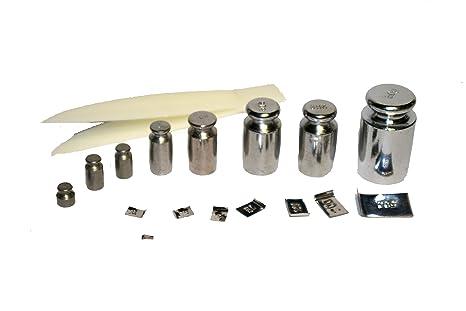 Pesos para calibrar básculas de precisión, Gewichte Set von 5mg bis 50g
