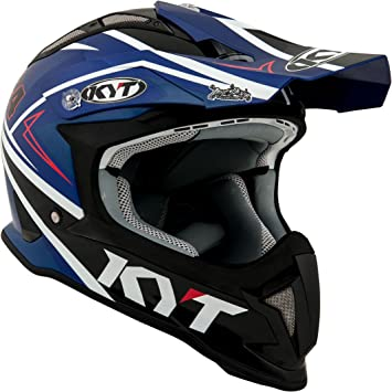 KYT casco Moto Cross off-road Strike Eagle, Simpson Replica Blue, talla M