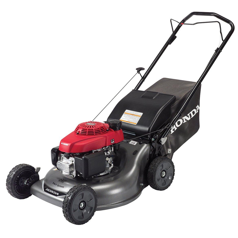 Amazon.com : Honda HRR216PKA 21'' 3-in-1 Self Push Gas Lawnmower Lawn Mower  w/ Twin Blade Technology : Walk Behind Lawn Mowers : Garden & Outdoor