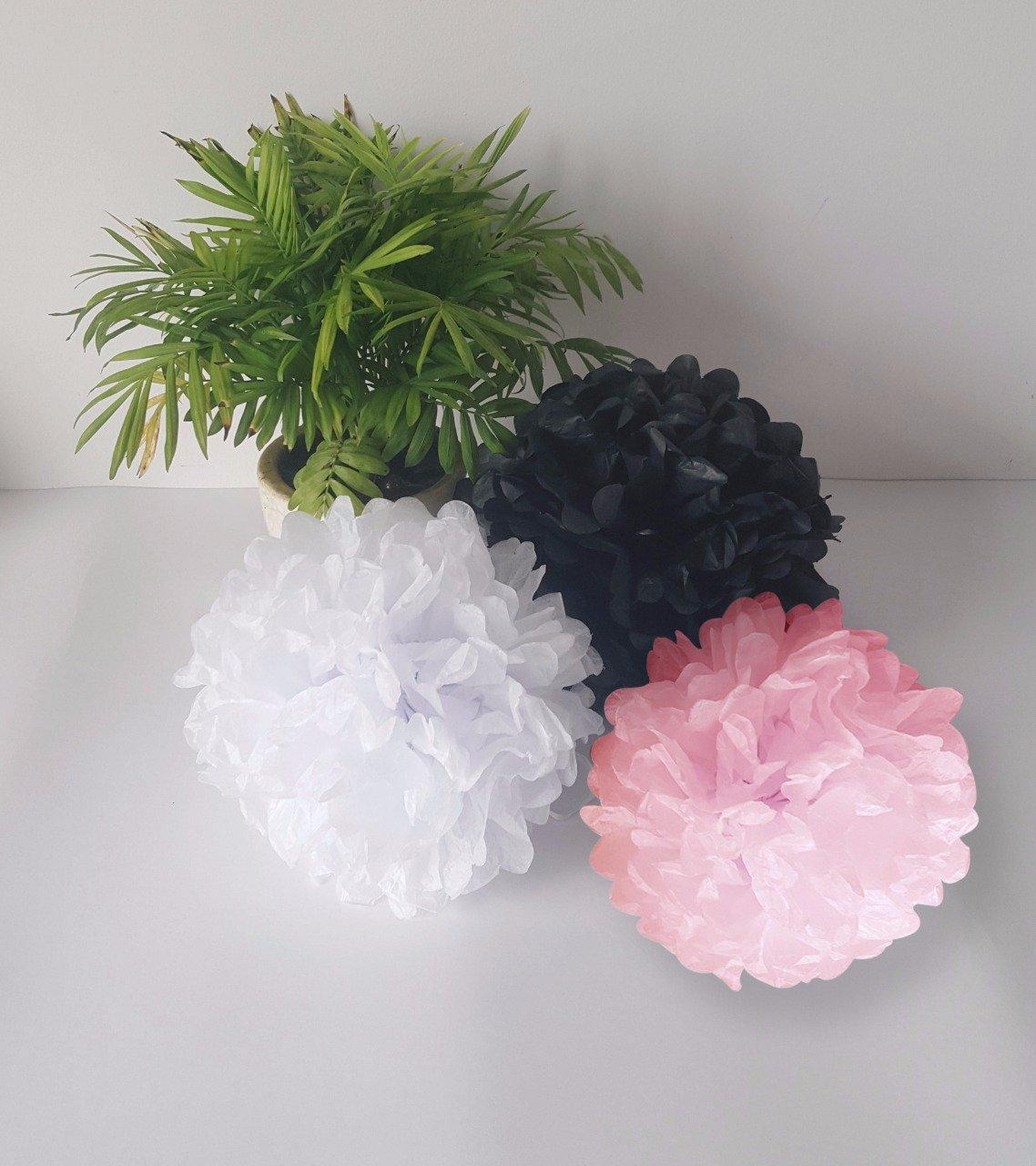 Flores de Papel para Decoraciones Elegantes de Bodas Coches de Boda Baby Showers Fiestas Diferentes Colores Cumplea/ños YOKARTA 12x Pompones de Papel de Seda Decorativos rojo /ø 20 cm