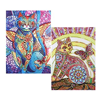 2pcs Special Shaped 5D Diamond Painting Embroidery Tree PictureS DIY Gifts