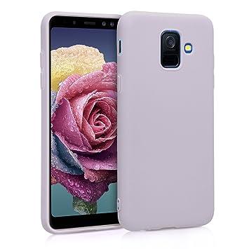 kwmobile Funda para Samsung Galaxy A6 (2018) - Carcasa para móvil en [TPU Silicona] - Protector [Trasero] en [Lila]
