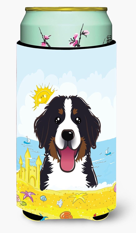 Caroline's Treasures BB2105TBC Bernese Mountain Dog Summer Beach Tall Boy beverage Insulator Hugger, Tall Boy, multicolor