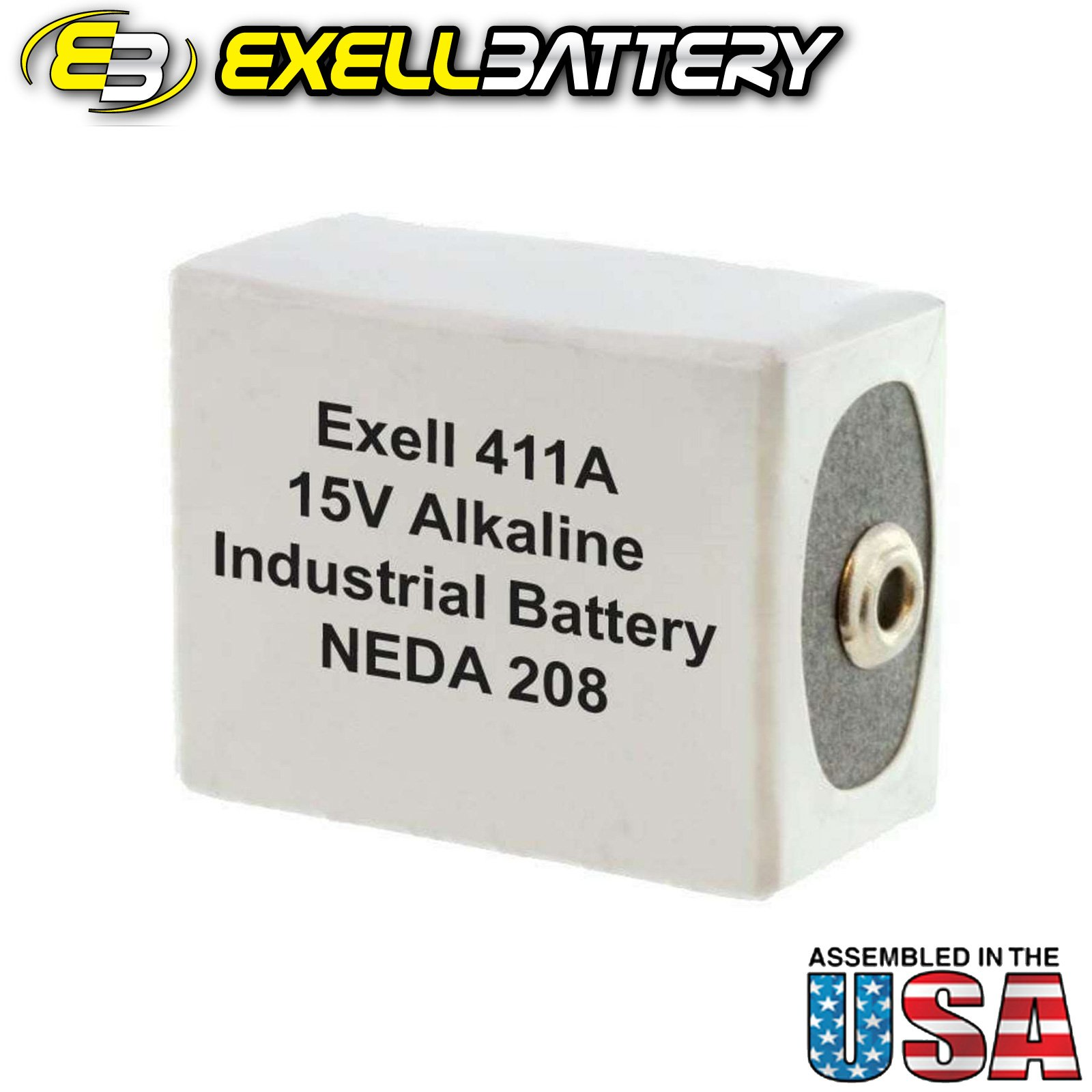 50pc Exell 411A Alkaline 15V Battery Replaces NEDA 208, 10F20, BLR121 by Exell Battery (Image #2)