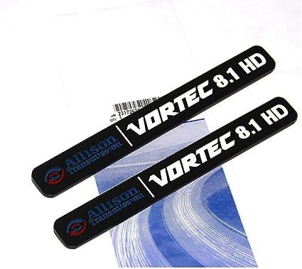 3x OEM Black ALLISON DURAMAX 6.6 HD VORTEC 6.6HD EMBLEMS 2500HD 3500HD Y Red