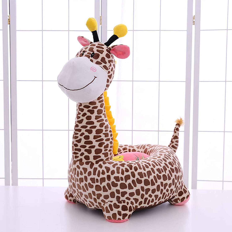 Creator-Z - Sofá infantil de dibujos animados para niños, asiento pequeño, juguetes para montar a caballo jirafa suave tatami sillas regalos de cumpleaños para niños y niñas, color marrón