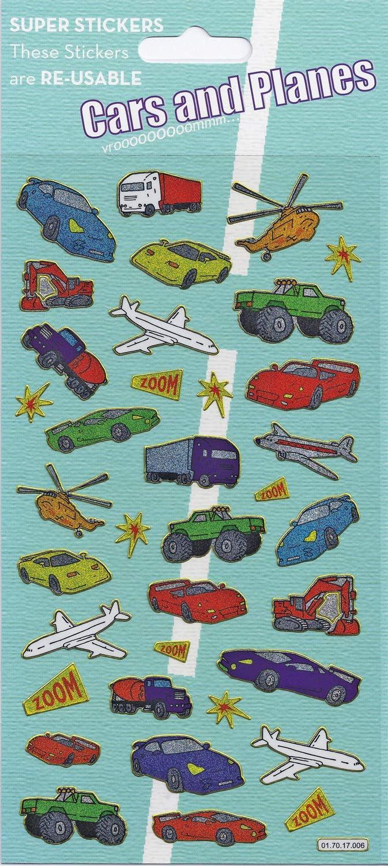 Paper Projects 01.70.17.006 - Pegatinas para Coches y Aviones, tamaño Grande: Amazon.es: Juguetes y juegos
