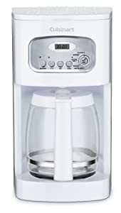 Cuisinart DCC-1100FR 12-Cup Programmable Coffeemaker, White (Certified Refurbished)