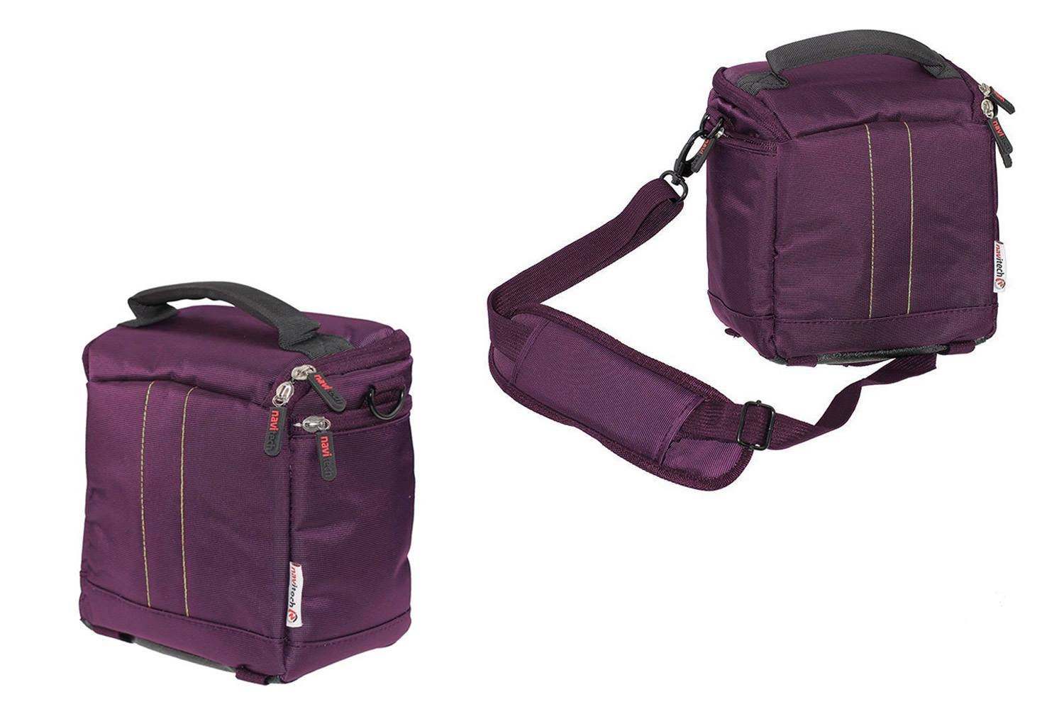 Navitech Purple Protective Portable Projector Carrying Case and Travel Bag for theAAXA M5 Mini Portable Business Projector