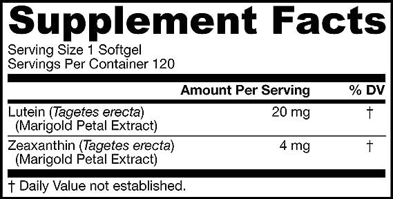 Jarrow Formulas Luteína 20 mg Cápsulas blandas: Amazon.es: Salud y cuidado personal