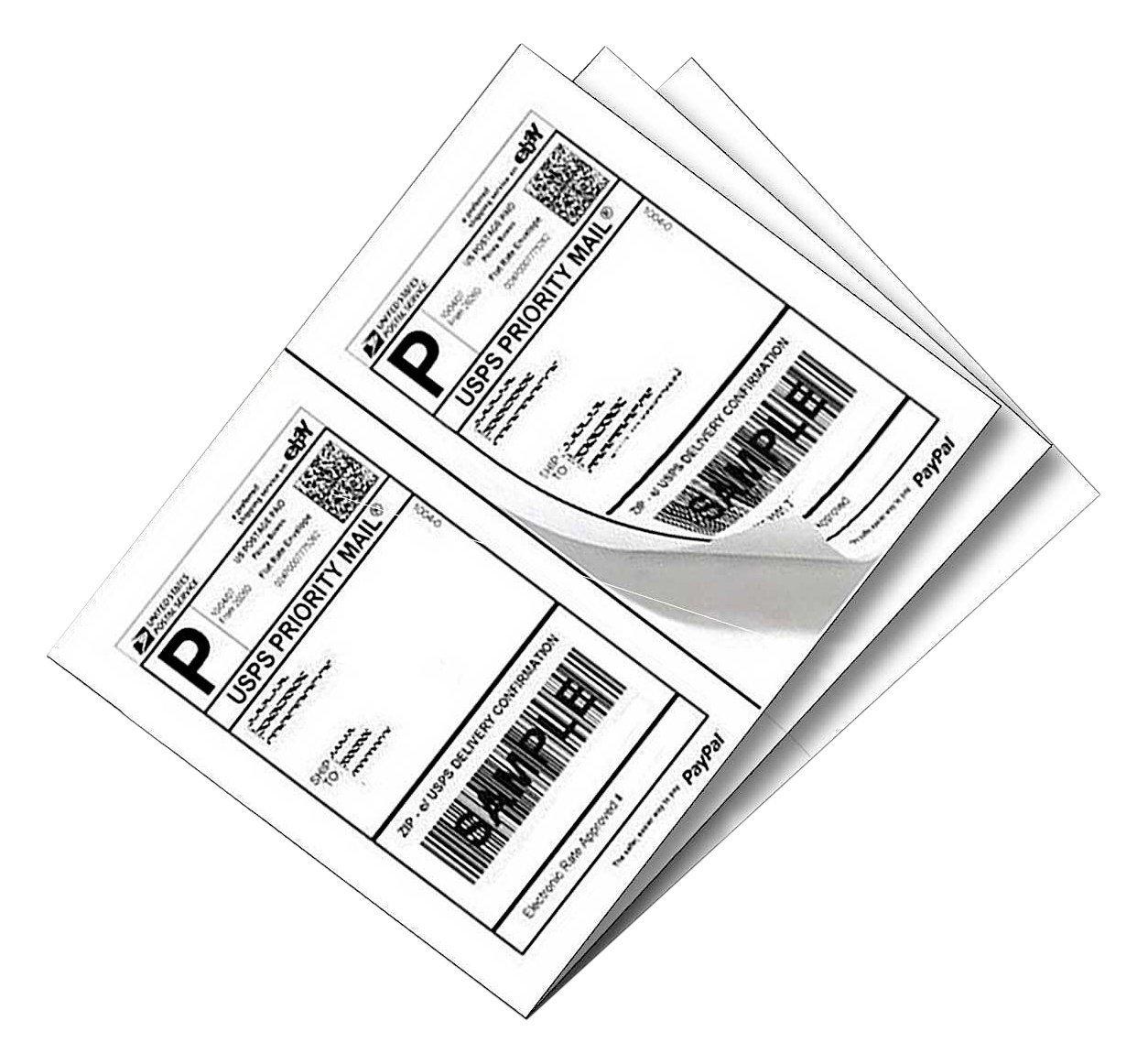 Yens 200 Half Sheet Shipping Labels for Laser/Inkjet 5-1/2