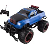 R/C Monster Truck Toy Remote Control RTR Electric Vehicle Off-Road RC Race Car (1:16 Large Scale - Blue)