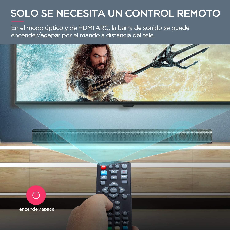 Barra de Sonido 2.0 Canales, Potencia 120 W, 110 dB, BOMAKER ...
