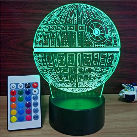Múltiples luces de noche Star Wars Death Star LED 3D Luz ambiental ...