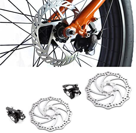 Mechanical Disc Brake Bike Front//Rear Caliper 160mm Rotor For Mountain Bicycle