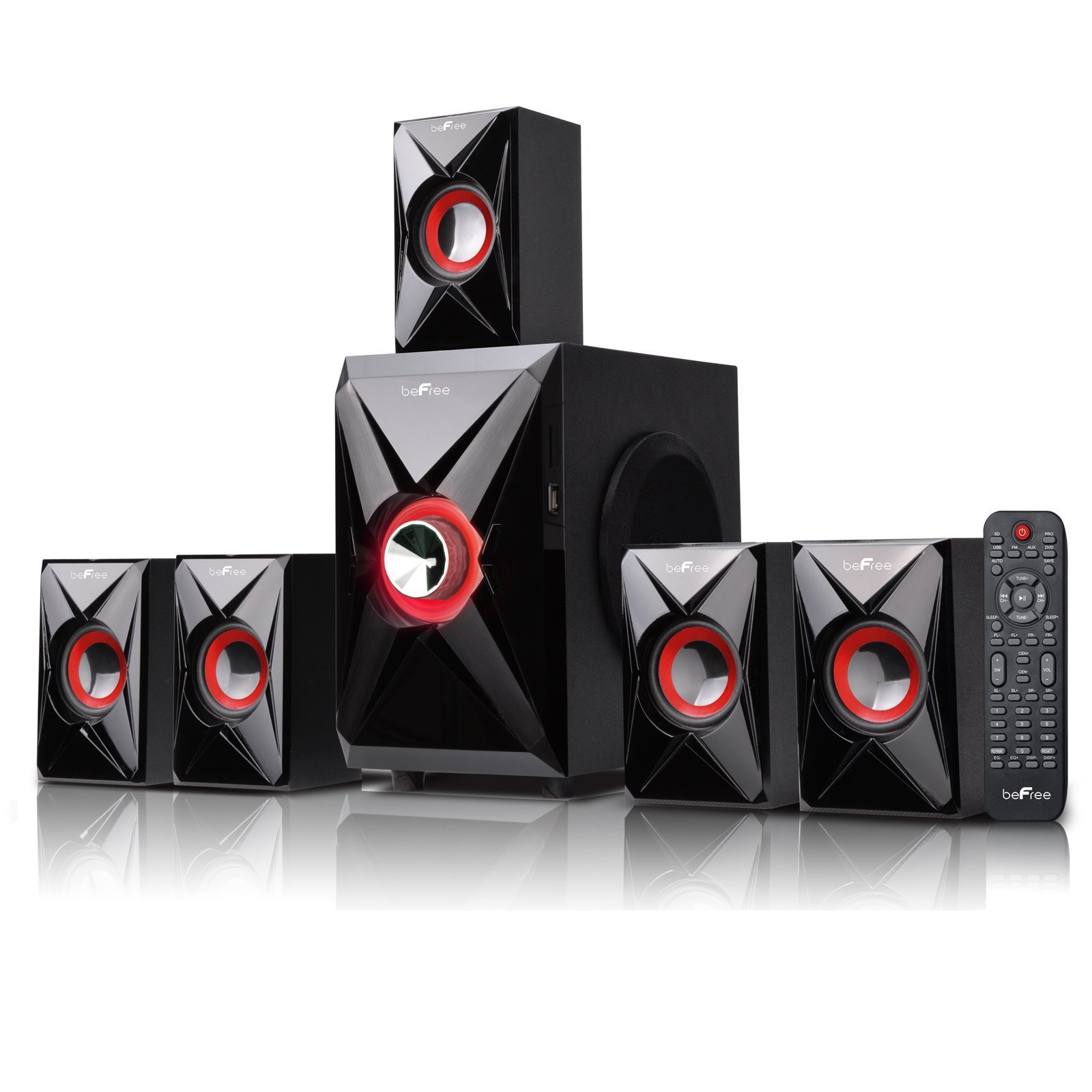 BEFREE SOUND BFS-420 Bluetooth Home Theater System, Red by BEFREE SOUND