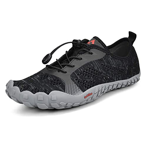 3107b28aa3250 QANSI Mens Trail Running Shoes Mesh Barefoot Quick Drying Water Shoes  Athletic Hiking Walking Gym Shoes