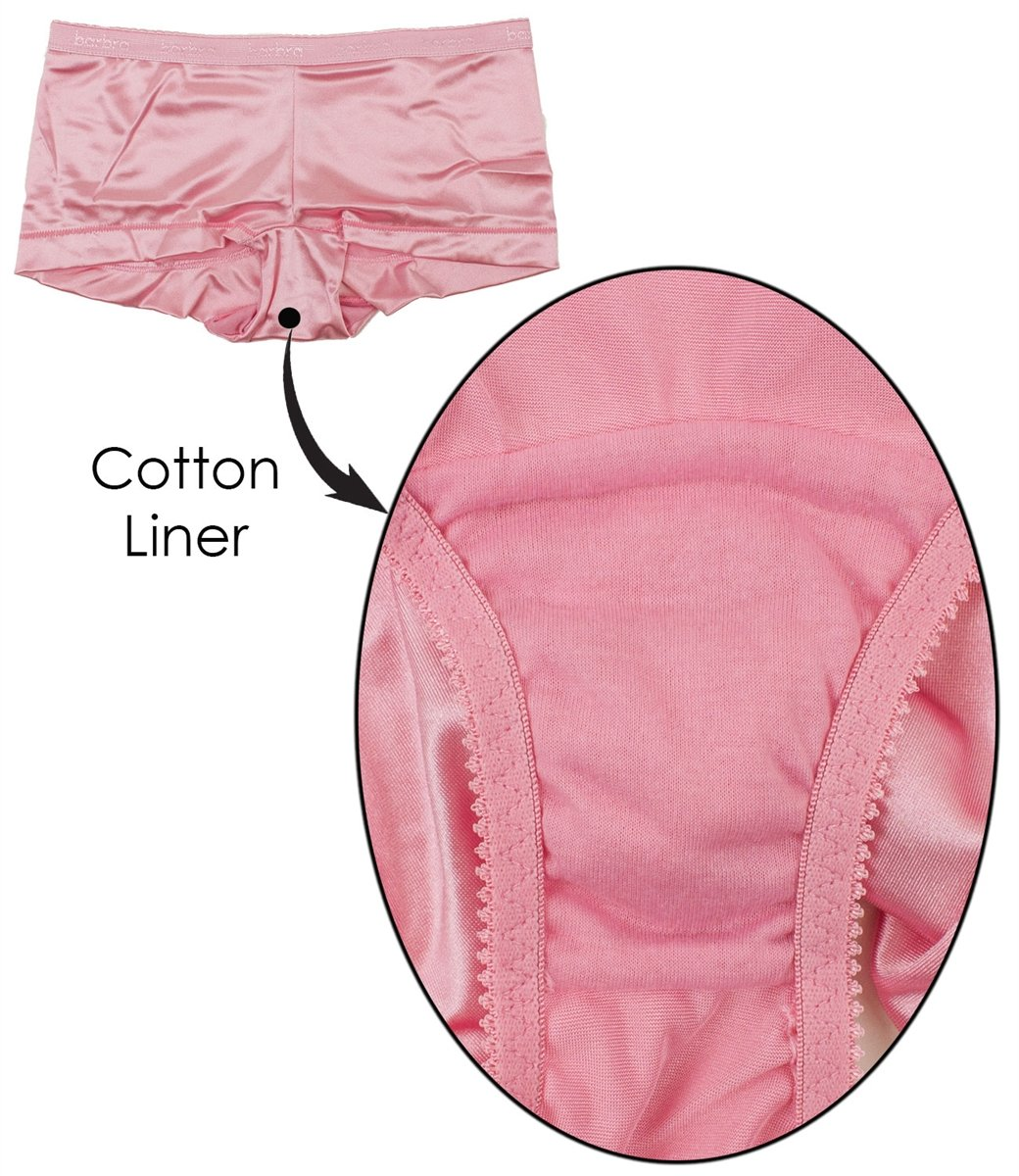 Barbra 6 pack Women's Satin Full Coverage Guaranteed Fit Boyshort Panties(3XL) by Barbra Lingerie (Image #5)