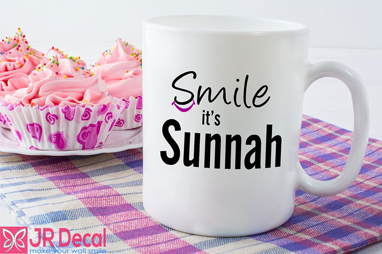 Smile it's Sunnah Islamic printed Mug Novelty Eid Gift. Islamic mug Morning coffee mug Muslim gift Quote printed mug D2