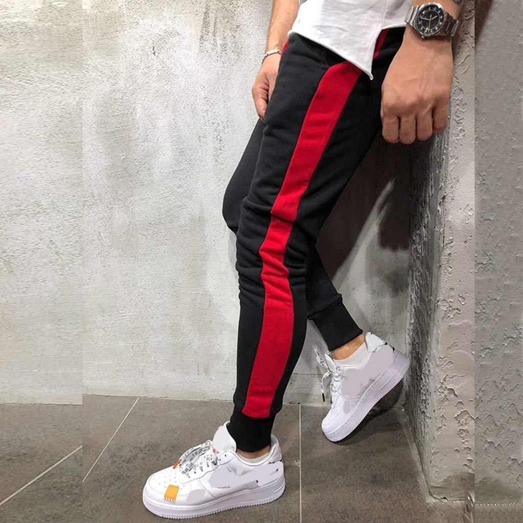 Pantalon D/écontract/é Confortable Hommes Nouveau Style Loisirs de Mode Pantalons de Sport Pants