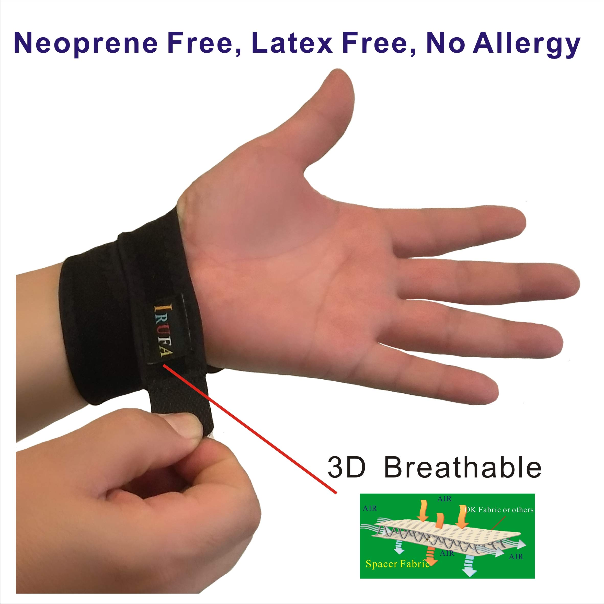 IRUFA,WR-OS-17,3D Breathable Spacer Fabric Wrist Brace, for TFCC Tear- Triangular Fibrocartilage Complex Injuries, Ulnar Sided Wrist Pain, Weight Bearing Strain, One PCS (Spacer Fabric) by IRUFA (Image #4)
