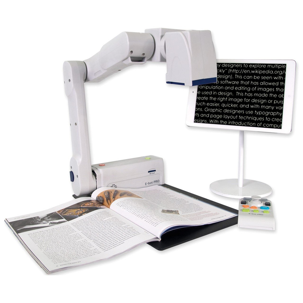 E-bot PRO Portable Magnifier for iPad, Android Tablet, PC or Mac
