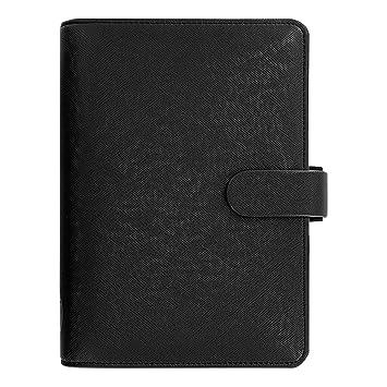 Filofax 2019 Personal Saffiano Organizer, Black, Paper Size 6.75 x 3.75 inches (C022470-19)