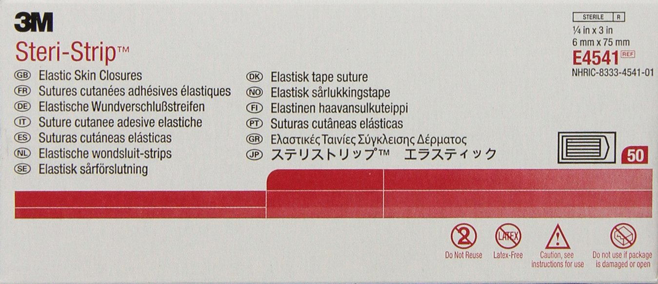3M E4541 Steri-Strip Elastic Skin Closures (Pack of 50)