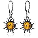Amazon Price History for:Amber Sterling Silver Flaming Sun Leverback Earrings