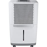 Frigidaire High 70 Pints-Per-Day Portable Dehumidifier with SpaceWise Design for Effective and Efficient Moisture Control, FAD704DWD, fit for use in any damp spaces in the home, White