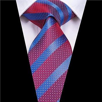 AK Corbata para hombre Sn-3169 Nueva corbata a rayas de color rojo ...