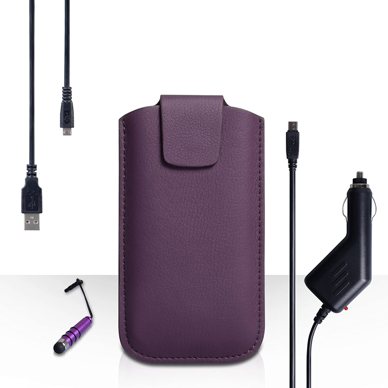 Yousave Accessories carcasa para LG K10 Morado Lichee ...