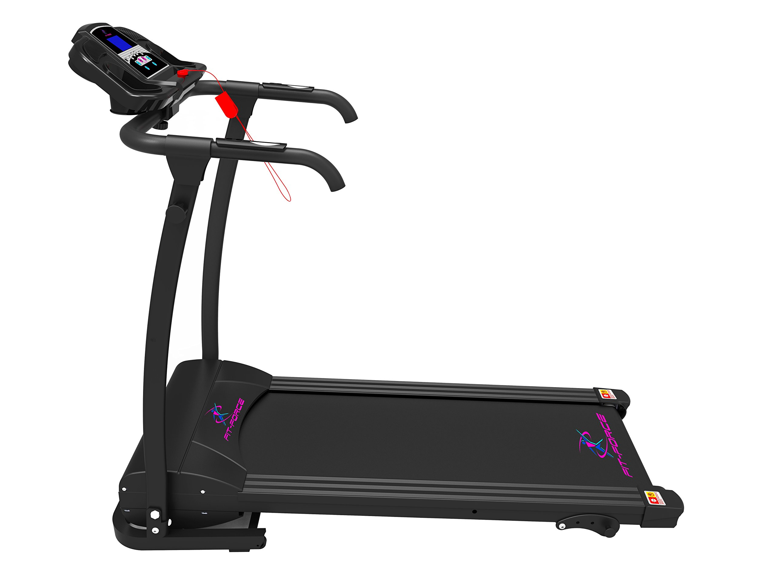 Fit-Force Cinta de Correr Plegable 1500W 0-14 kmph Entrada MP3 y Dos