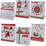 12 Christmas Gift Bags Large Bulk Assortment with Handles and Tags for Wrapping Holiday Gifts