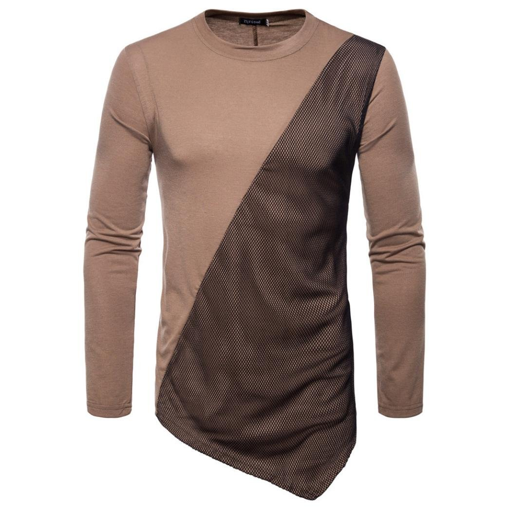 PASATO Clearance Fashion Mens Autumn Joint Long Feather Sleeved Sweatshirts Top Blouse