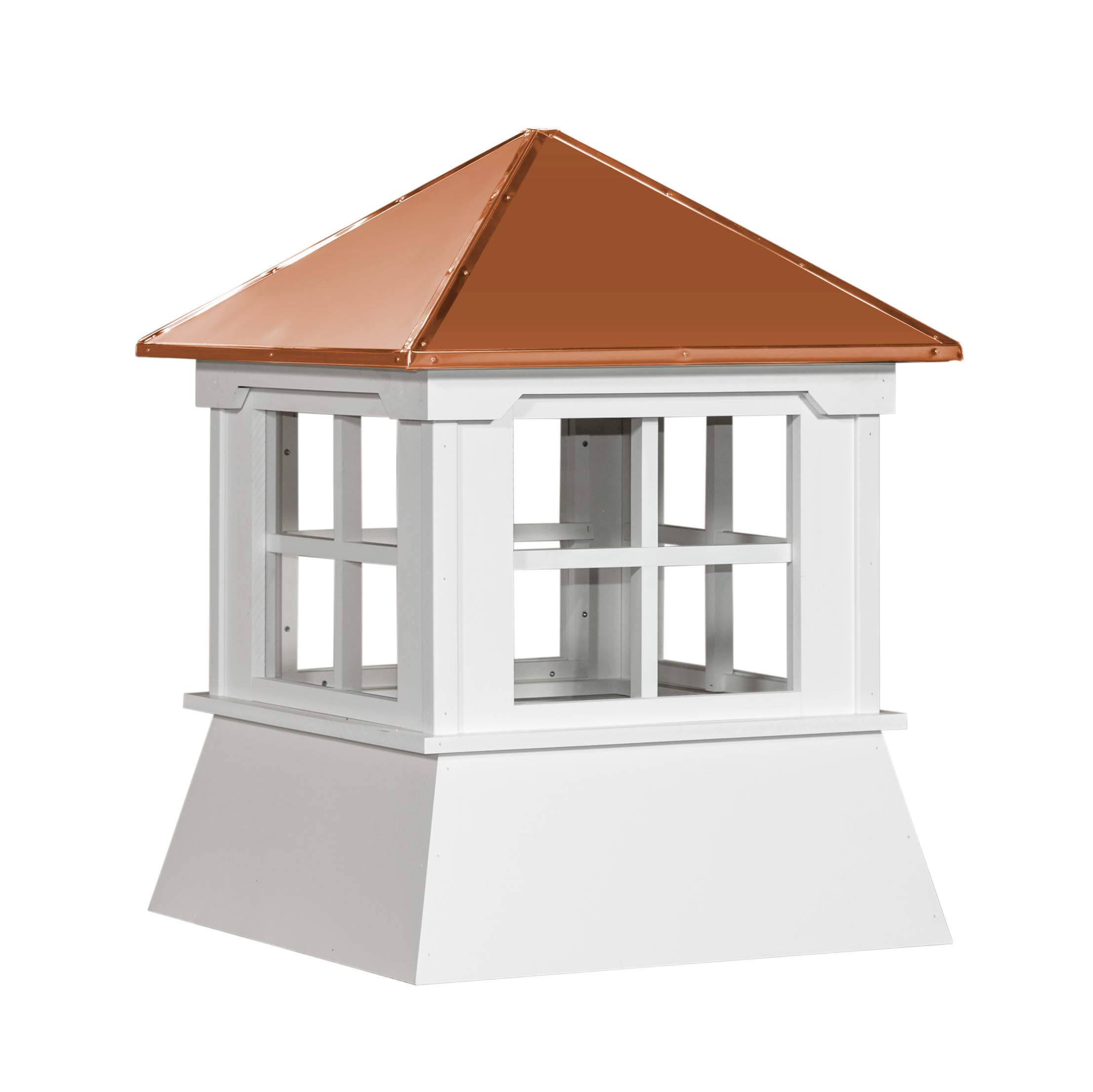 Cupola 16'' Vinyl Cupola with Window Copper Metal Hipp Roof Shed Cupola