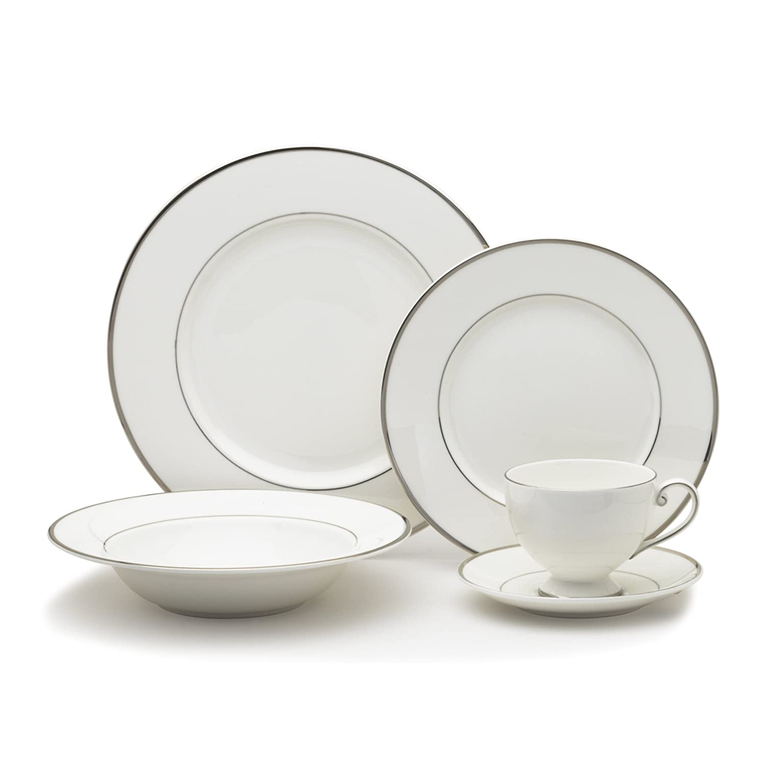Mikasa Cameo Platinum 40-Piece Dinnerware Set, Service for 8