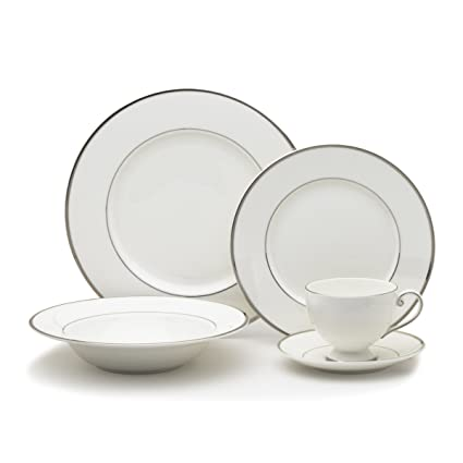 Mikasa Cameo Platinum 40-Piece Dinnerware Set Service for 8  sc 1 st  Amazon.com & Amazon.com | Mikasa Cameo Platinum 40-Piece Dinnerware Set Service ...