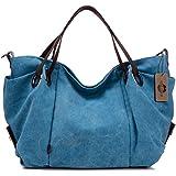 "KISS GOLD(TM) Women's Canvas Hobo Top-handle Bag Crossbody Shoulder Bag, European Style, Large Size 16""X6.8""X12"""