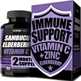 Sambucus Elderberry Zinc Vitamin C Supplement Provides Elderberry Immune Support Vitamin Zinc Vitamin C As Immune Booster for